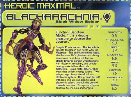 Blackarachnia Trades Up