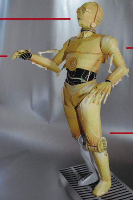 Make Your Own Paper C3PO -- If You Have The Patience Of Yoda
