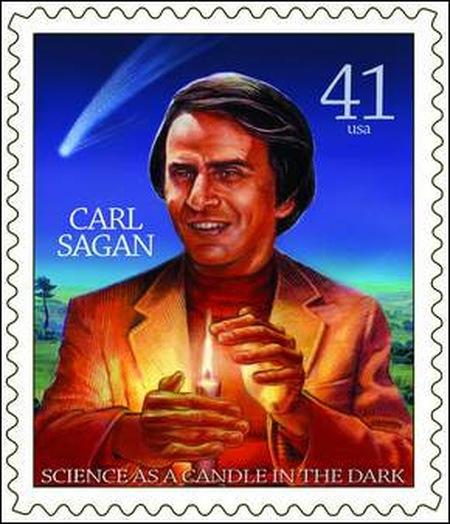 Carl Sagan + Stamp = Cool