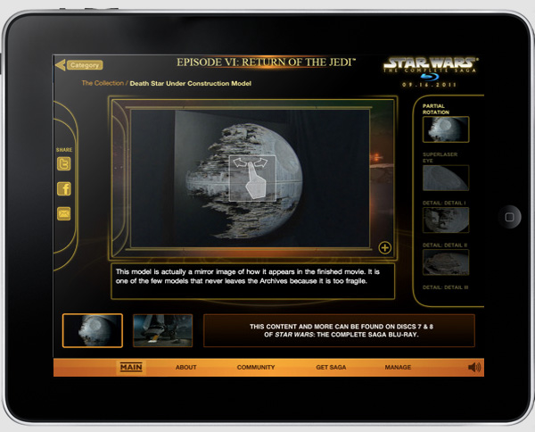 Sneak Peek: The Star Wars BluRays w/iPad App