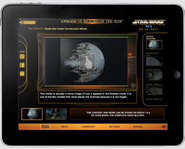 Sneak Peek: The Star Wars BluRays w/iPad App